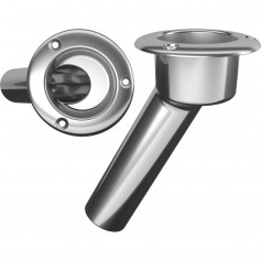Mate Series Stainless Steel 30 Rod Cup Holder - Open - Round Top