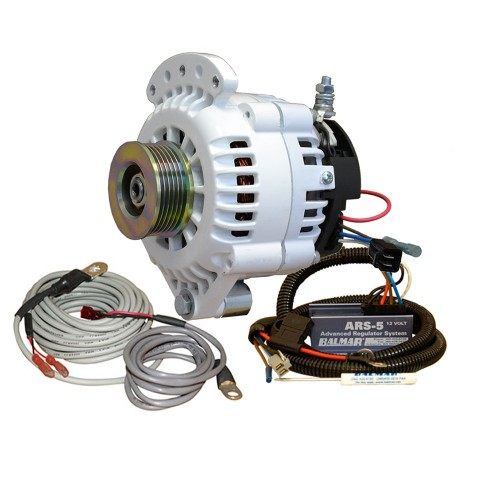 Balmar 621 Series Alternator - Spindle Mount-Single Foot- Charging Kit - K6 Serpentine Pulley - 100A - 12V