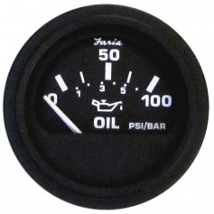 Faria Heavy-Duty 2- Oil Pressure Gauge -80PSI- - Black
