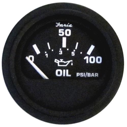 Faria Heavy-Duty 2- Oil Pressure Gauge -100PSI- - Black