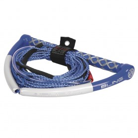 AIRHEAD Bling Spectra Wakeboard Rope - 75- 5-Section - Blue