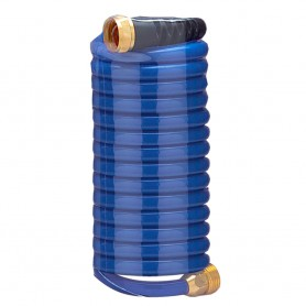 HoseCoil 15- Blue Self Coiling Hose w-Flex Relief