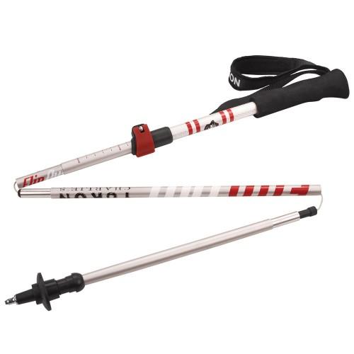 YUKON Flipout Trekking Poles - Aluminum - Red-Silver