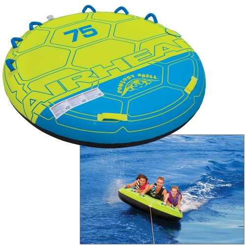 AIRHEAD Comfort Shell Deck Water Tube - 3-Rider