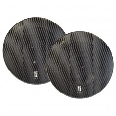 Poly-Planar 6- Titanium Series 3-Way Marine Speakers - -Pair- Black