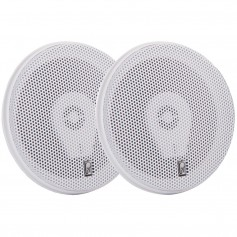 Poly-Planar MA8505W 5- Three-Way Titanium Series Marine Speakers - White