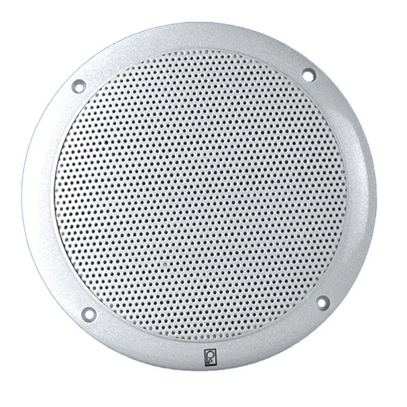 Poly-Planar 4- 2-Way Coax Integral Grill Marine Speaker - -Pair- White