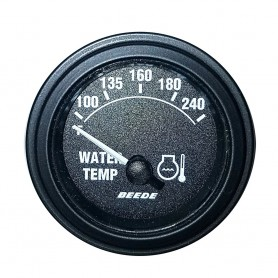 Faria 2- 240 Temperature Gauge - Black w-Black Bezel - 24V