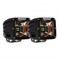 RIGID Industries Radiance Scene Lights - Surface Mount Pair - Black w-Amber LED Backlights