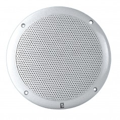 Poly-Planar 6- 2-Way Coax-Integral Grill Marine Speaker - -Pair- White