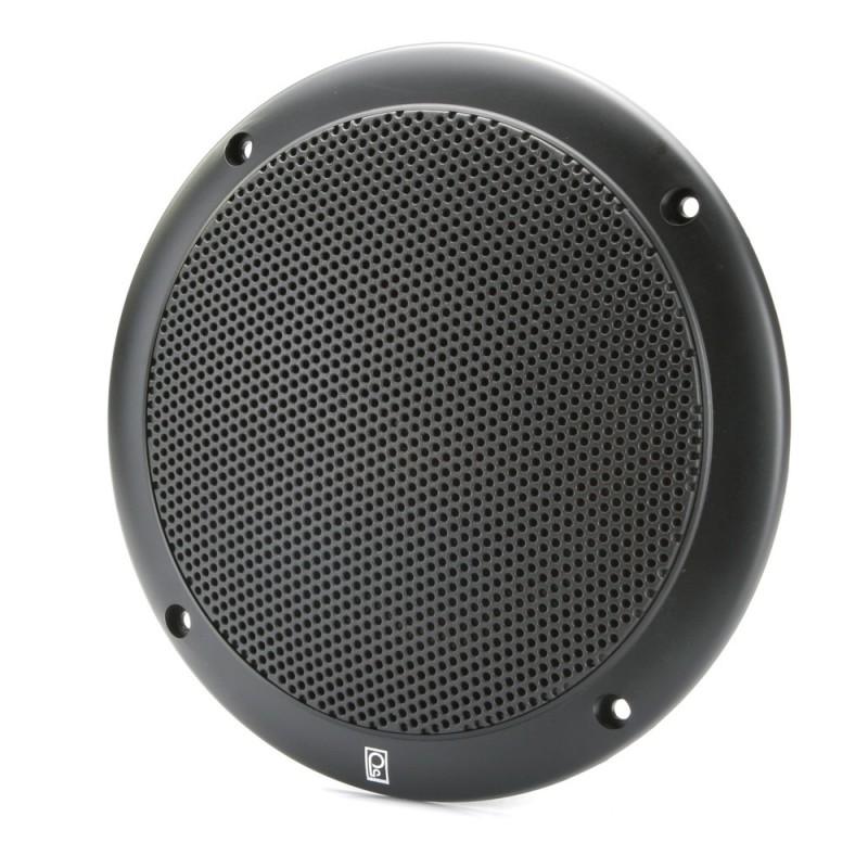 Poly-Planar 6- 2-Way Coax-Integral Grill Marine Speaker - -Pair- Black