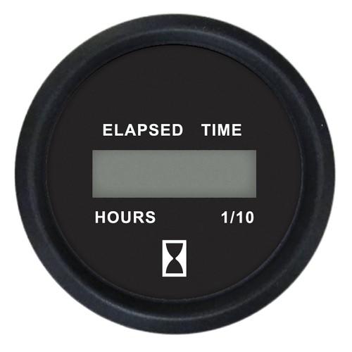 Faria 2- Digital Hourmeter Gauge - 12-32V - Euro Black