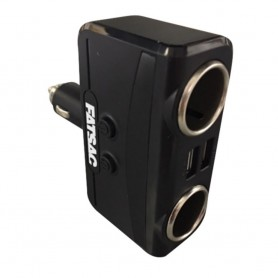 FATSAC Dual Socket 12-24V w-Dual USB Ports