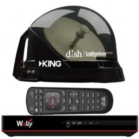 KING DISH Tailgater Pro Premium Satellite Portable TV Antenna w-DISH Wally HD Receiver