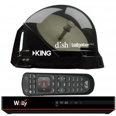 KING DISH Tailgater Pro Premium Satellite Portable TV Antenna w-DISH Wally HD Receiver