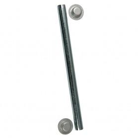 C-E- Smith Package Roller Shaft 1-2- x 5-1-4- w-Cap Nuts - Zinc