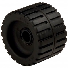 C-E- Smith Ribbed Wobble Roller 4-3-8- - 3-4-ID w-Bushing Black