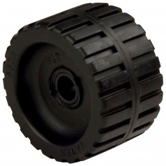 C-E- Smith Ribbed Wobble Roller 5-3-4-ID w-Bushing Black