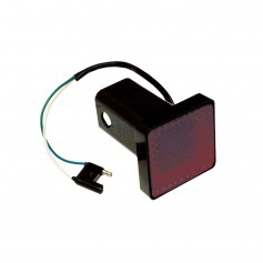 Draw-Tite Receiver Tube Cover 2- Square Brake Light w-4-Flat Plug