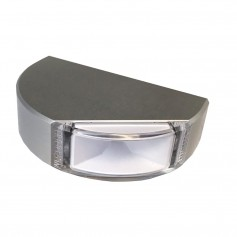 Lumitec Surface Mount Navigation Light - Classic Aluminum - Port Red