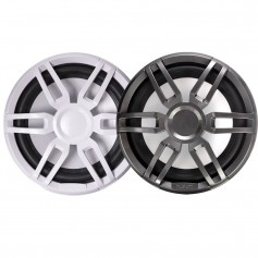 FUSION XS-SL10SPGW XS Series 10- 600 Watt Sports Marine Subwoofer - Sports White Grey Grill Options