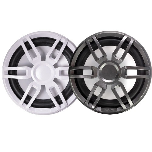 FUSION XS-SL10SPGW XS Series 10- 600 Watt Sports Marine Subwoofer - Sports White Grey Grill Options