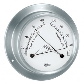 BARIGO Sky Series Ships Comfortmeter - Brushed Stainless Steel Housing - 3-3- Dial