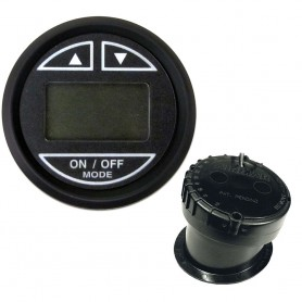 Faria 2- Depth Sounder w-In-Hull Transducer - Euro Black