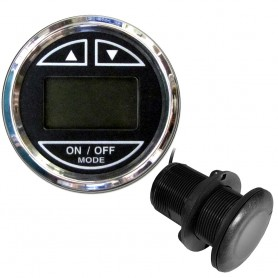 Faria 2- Depth Sounder w-Thru-Hull Transducer - Chesapeake Black - Stainless Steel Bezel