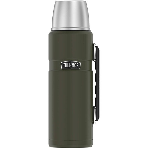 Thermos King Beverage Bottle 40oz - Stainless Steel-Matte Army Green