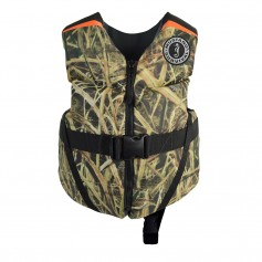 Mustang Rev Child Foam Vest - 33-55lbs - Mossy Oak Shadow Grass Blades