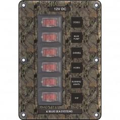 Blue Sea 4325 Circuit Breaker Switch Panel 6 Position - Camo