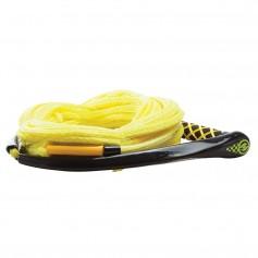 Hyperlite Apex PE EVA Handle - 65 Wakeboard Rope - Yellow - 4 Sections - 15- Handle