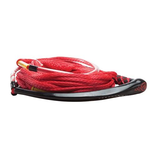 Hyperlite Apex PE EVA Handle - 65 Wakeboard Rope - Red - 4 Sections - 15- Handle