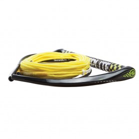 Hyperlite 75 Rope w-Chamois Handle Fuse Mainline Combo - Yellow - 5 Section - 15- Handle
