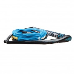 Hyperlite 75 Rope w-Chamois Handle Fuse Mainline Combo - Blue - 5 Section - 15- Handle