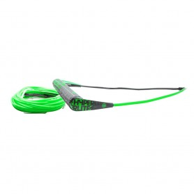 Hyperlite Team Handle w-75 Silicone X-Line Combo - Green