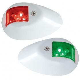 Perko LED Side Lights - Red-Green - 12V - White Epoxy Coated Housing