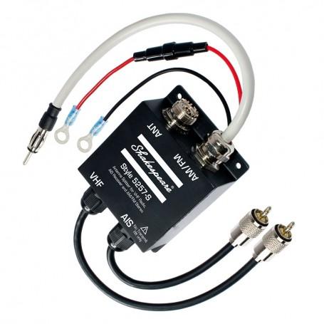 Shakespeare 5257-S Antenna Splitter f-VHF Radio- AIS Receiver AM-FM Stereo