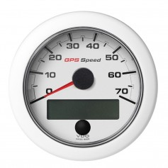 VDO Marine 3-3-8- -85mm- OceanLink GPS Speedometer -0-70 KN-MPH-KMH- White Dial Bezel