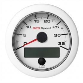 VDO Marine 3-3-8- -85mm- OceanLink GPS Speedometer -0-35 KN-MPH-KMH- White Dial Bezel