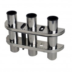 C-E- Smith Triple Rod Holder 304 Stainless Steel