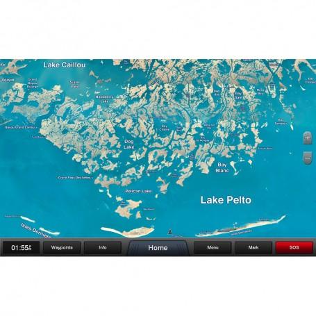 Garmin Standard Mapping - Louisiana Central Classic microSD-SD Card