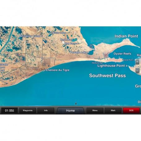 Garmin Standard Mapping - Louisiana West Classic microSD-SD Card