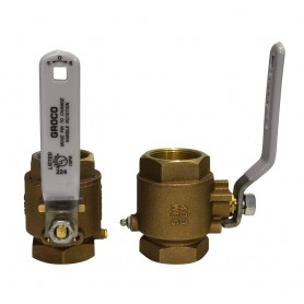 GROCO 1- NPT Bronze In-Line Ball Valve
