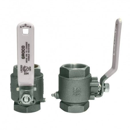 GROCO 1-1-2- NPT Stainless Steel In-Line Ball Valve