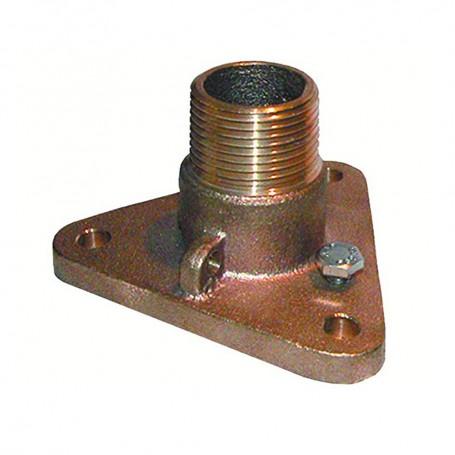 GROCO 1-1-2- Bronze NPS to NPT Flange Adapter