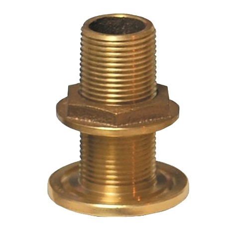 GROCO 1- NPS NPT Combo Bronze Thru-Hull Fitting w-Nut