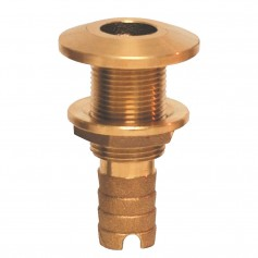 GROCO Bronze Hose Barb Thru-Hull Fitting - 1-