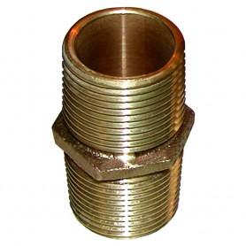 GROCO Bronze Pipe Nipple - 1- NPT